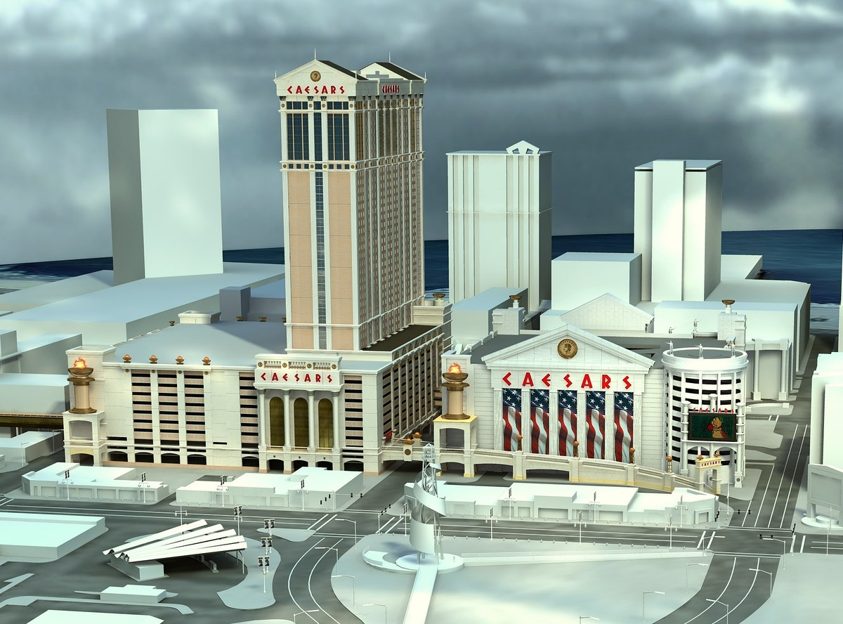 Caesars Transportation Center - Hotel Tower not built SE view.