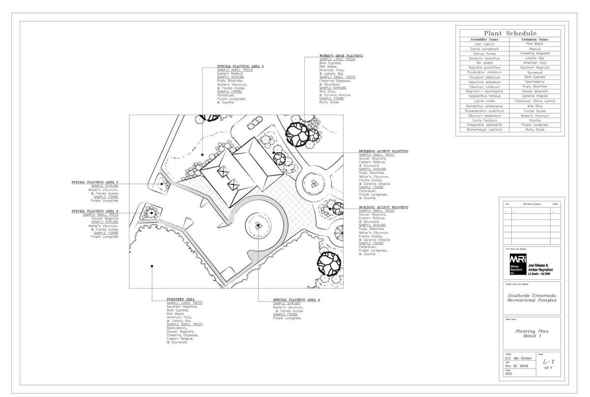 Planting plan detail sheet