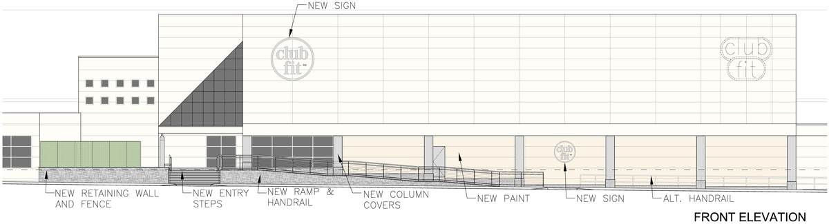 Elevation concept for the Club to display to its members