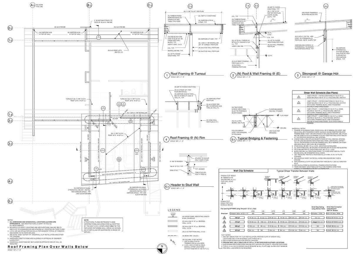Carport framing plans pdf woodworking for Carport detail