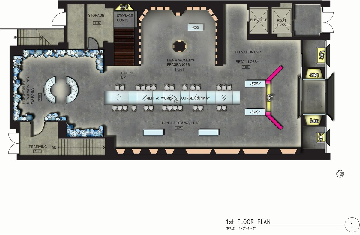 Rendered First Floor Plan