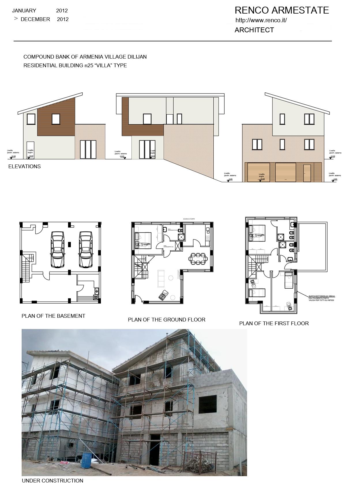 """RESIDENTIAL BUILDING n25 """"VILLA"""" TYPE"""