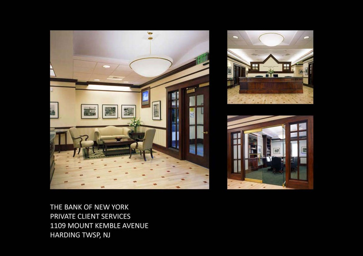 Front lobby, reception desk & conference room.