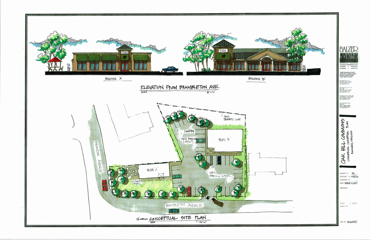 Oak Hill Commons Conceptual Design and Site Plan