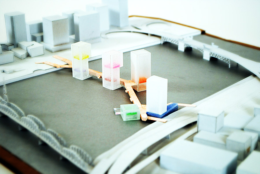 1/128 Scale 24x24x3 Colors symblize unique public program Acrylic, Chipboard, Cardboard, Spray Paint
