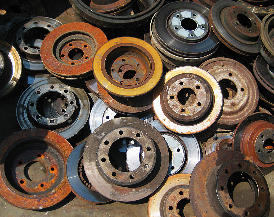 Junkyard inspiration: rusty old brake rotors, or beautifully patina'd lamp bases?