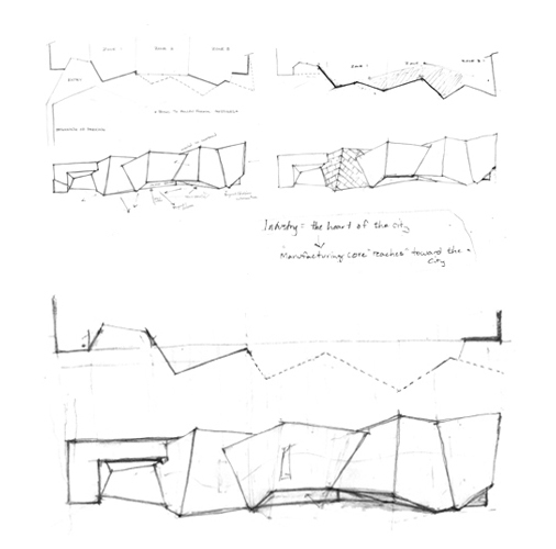 Initial form finding sketches