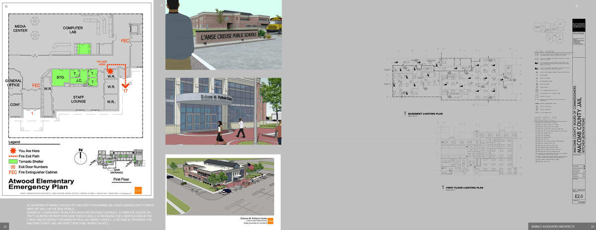 Highlights some of the work I have done as of mid 2010 for Wakely Assoc. Inc. Architects