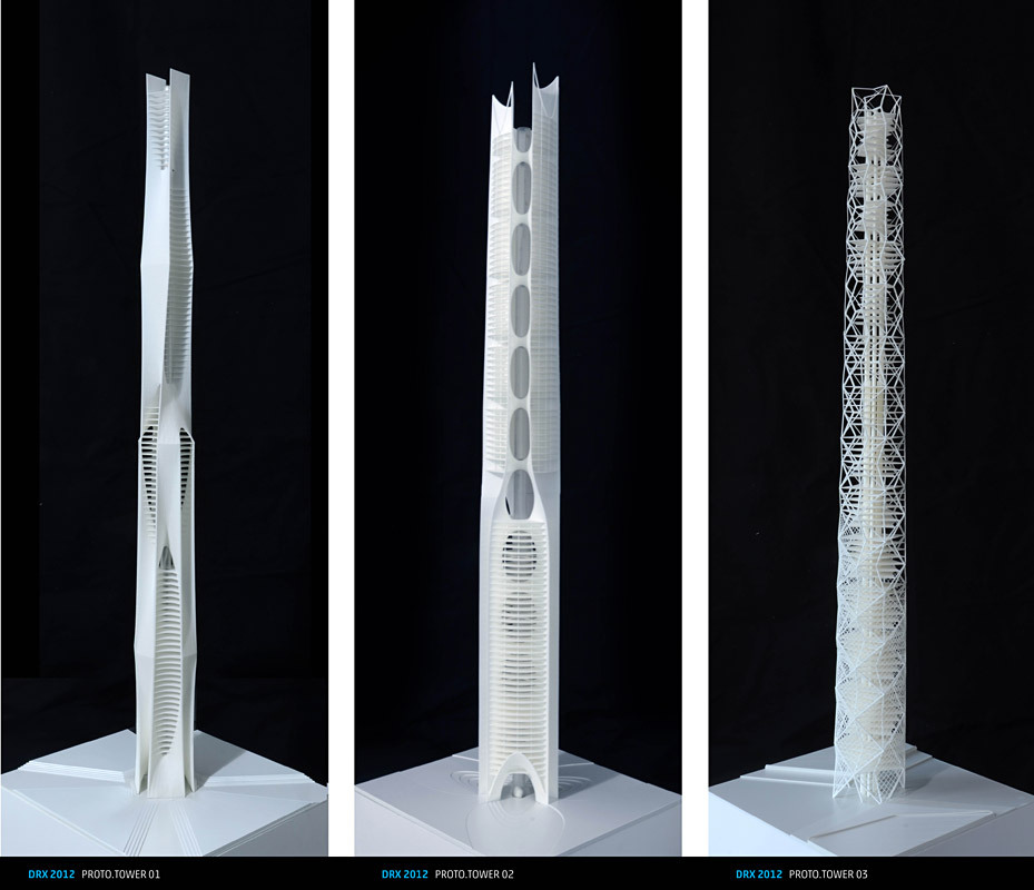 Models (1:500): ProtoTowers I-III.
