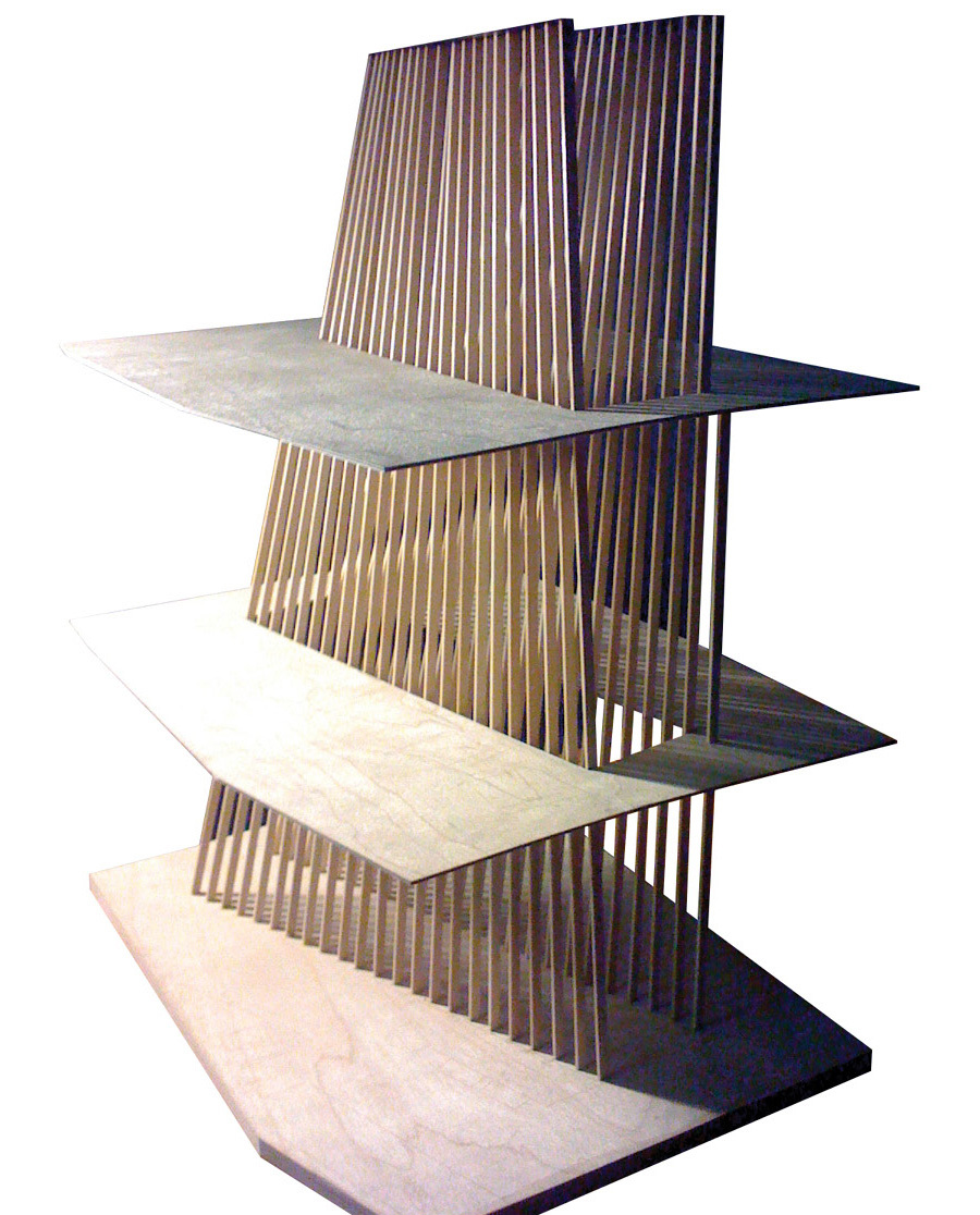Stair detail model perspective