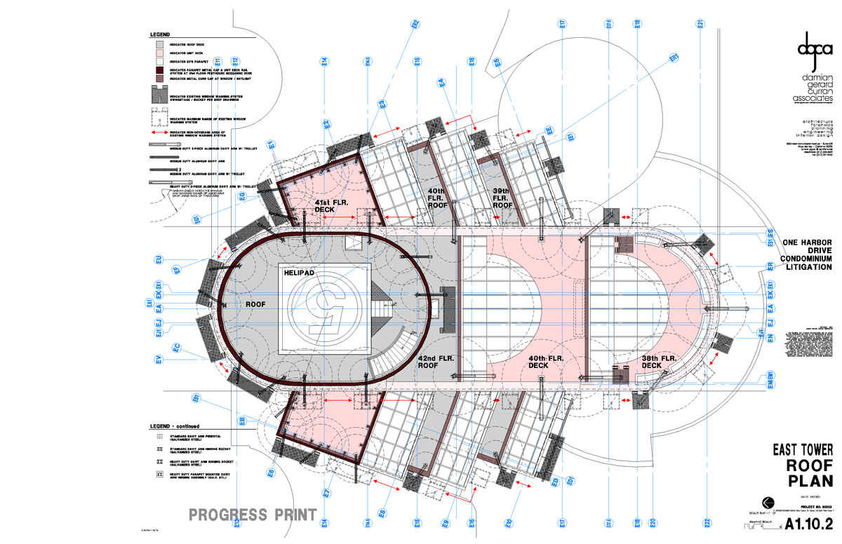 East Tower Roof Plan analysis