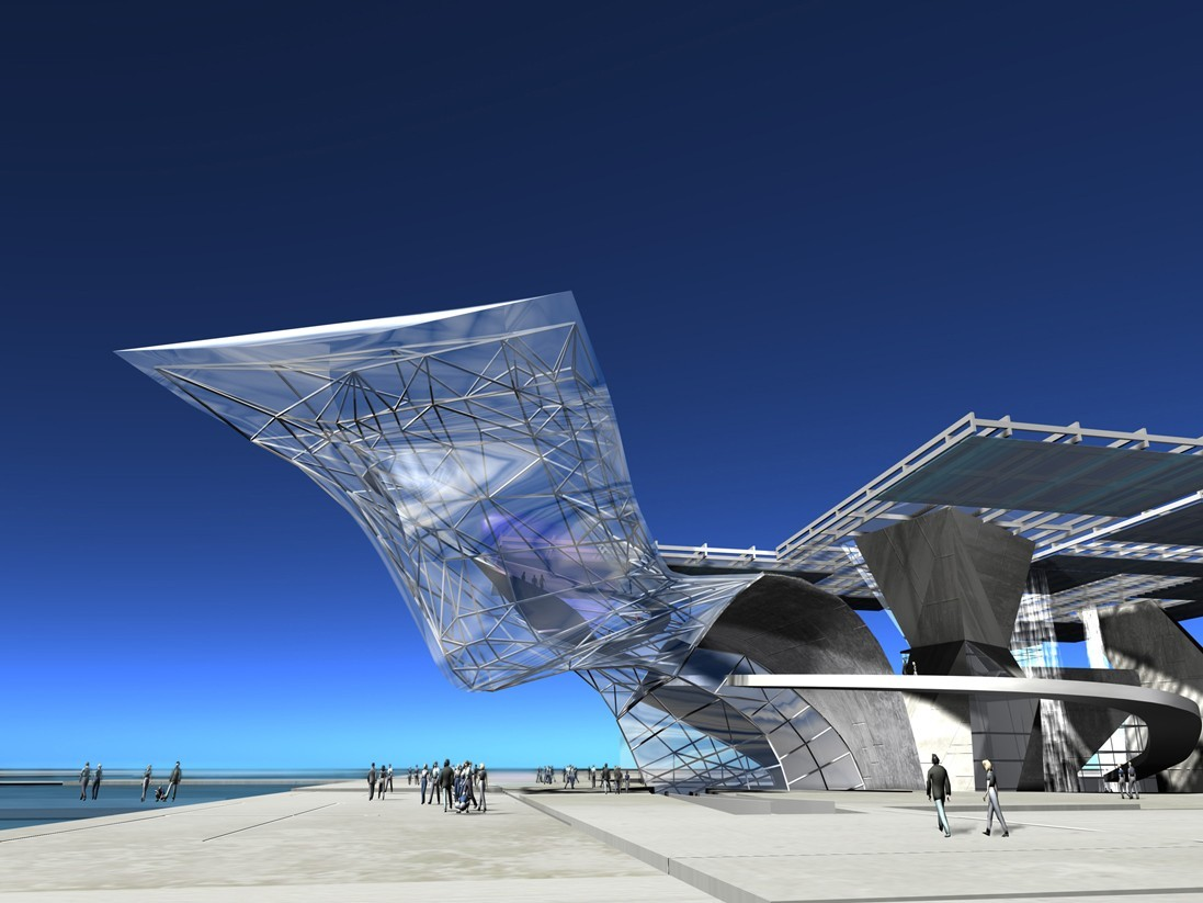 Coop Himmelb(l)au's New Urban Entertainment Center (photo via coop-himmelblau.at)