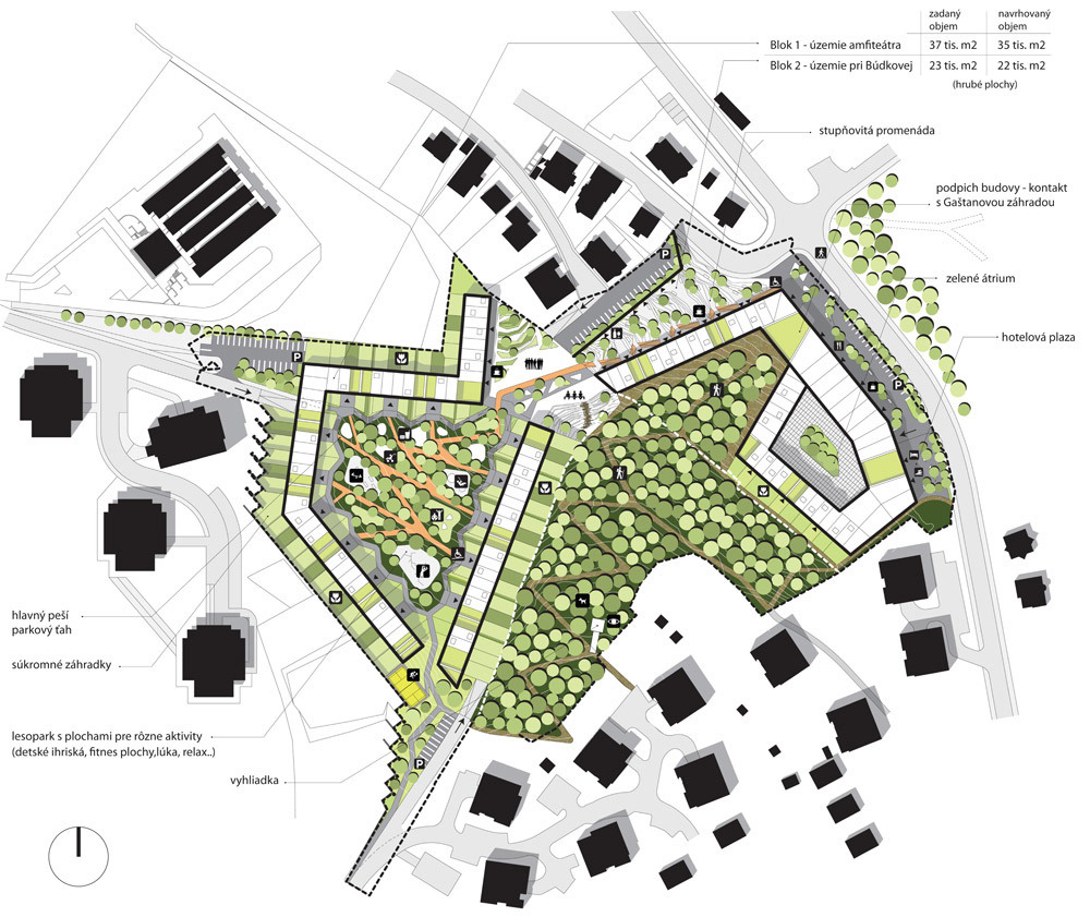 Winning design in the Parkhill competition in Bratislava, Slovakia by Nice Architects and 2ka landscape architects (Image- Nice Architects)