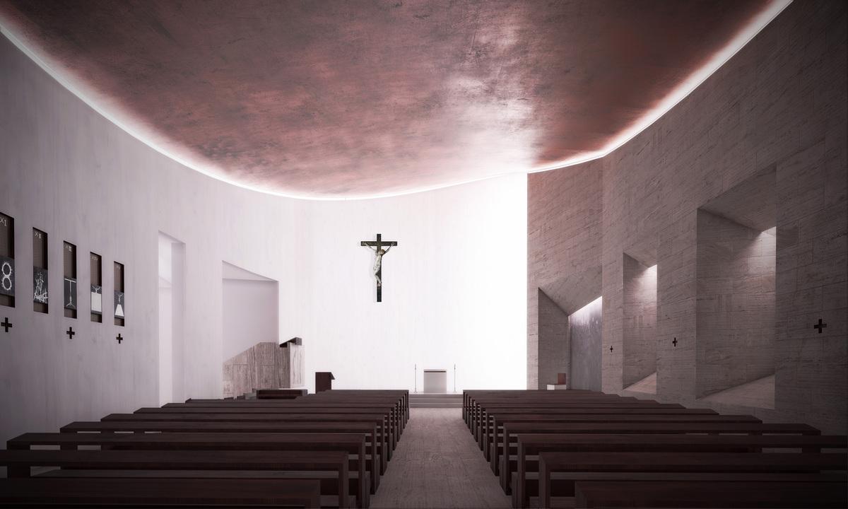 church hall view