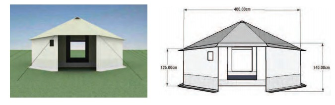 UNHCR Family Tent is designed for a five-person family. Credit: UNHCR