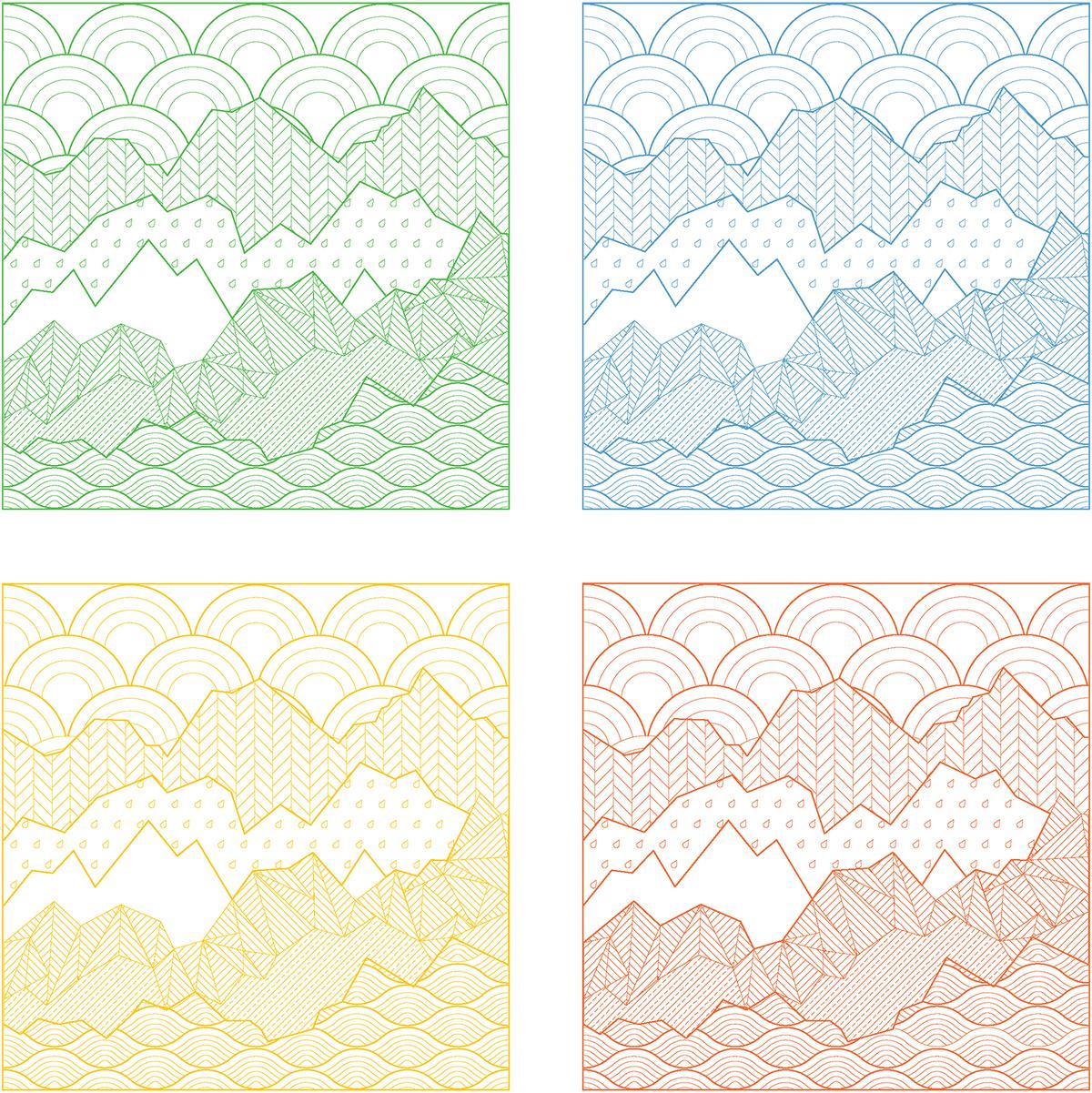 ECO-MONOPOLY nature pattern. Image: Jia Ma