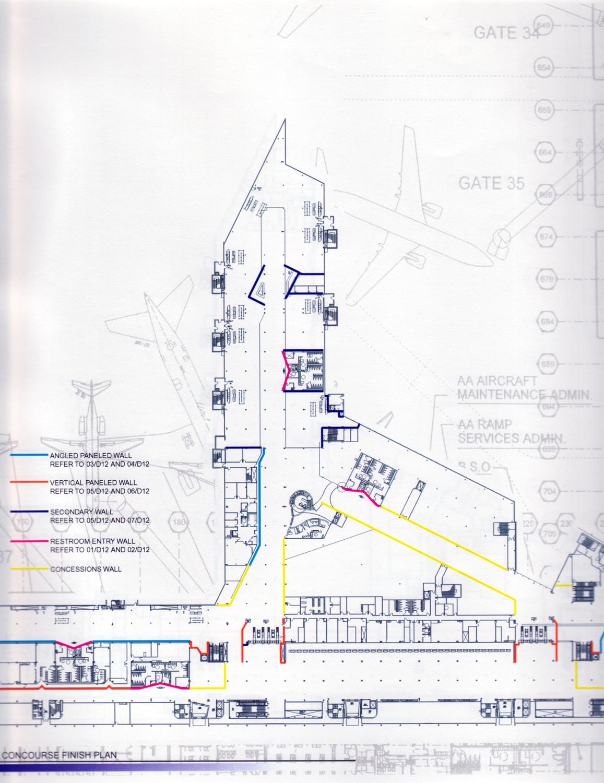 Lounges map/plan