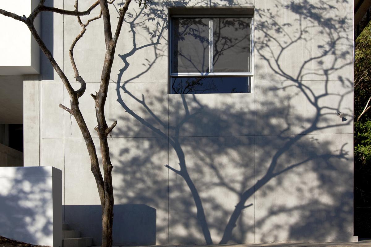 shadows on facade