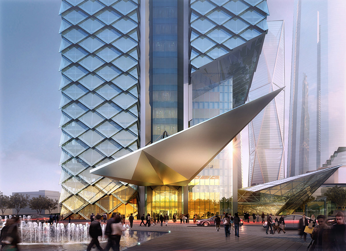 Tower 1 drop-off (Image: Adrian Smith + Gordon Gill Architecture)