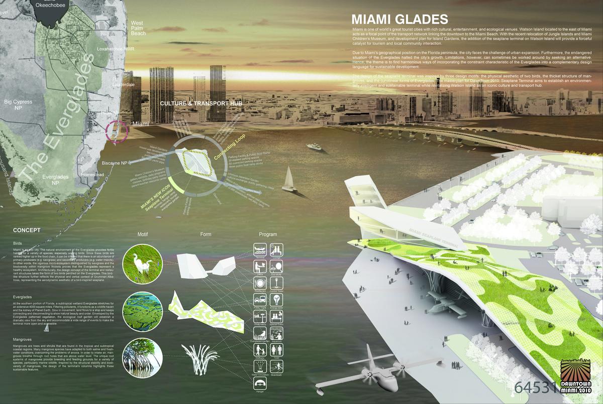 1st Place: THE MIAMI GLADES Team: CA Landscape, Trevor Curtis + Sylvia Kim Location: Seoul, South Korea