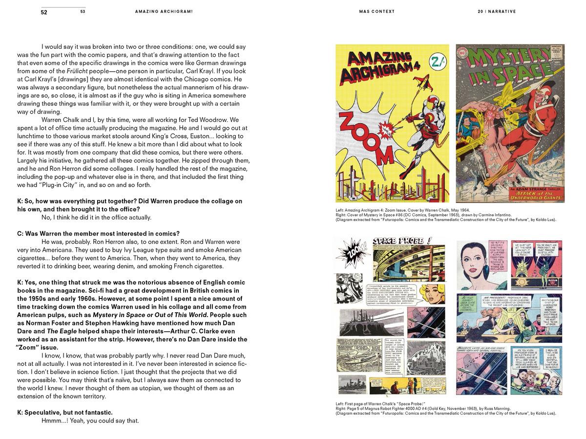 MAS Context Narrative. Amazing Archigram! (spread) © MAS Context