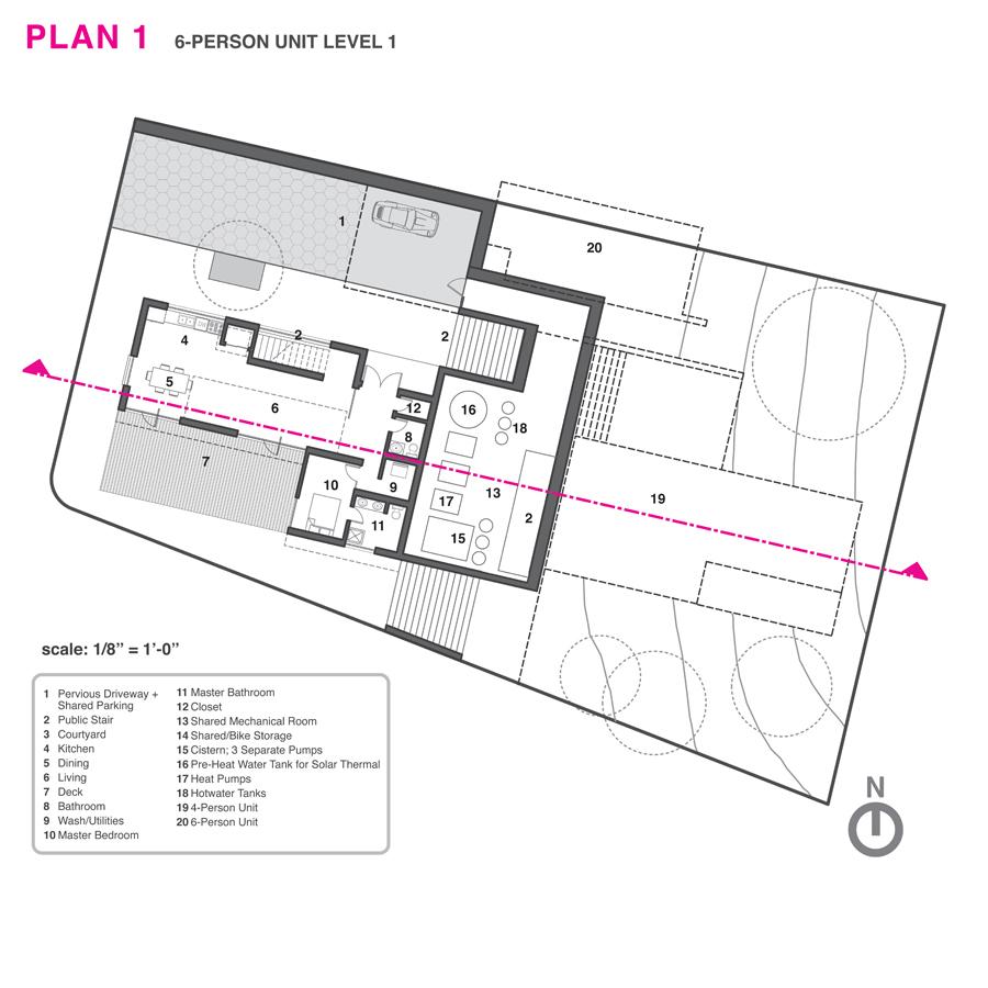 Ground level floor plan