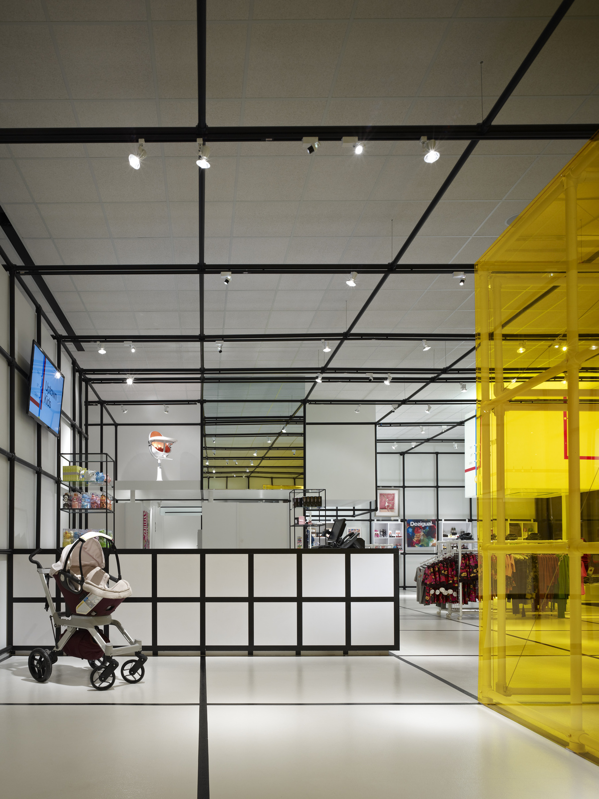Uptown kids elliott associates architects archinect for Interior design room grid