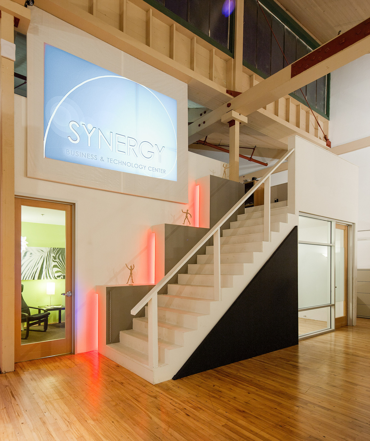 Loft Stair + Private Offices