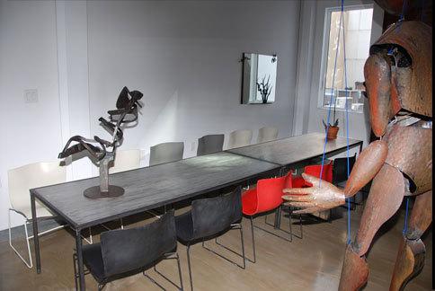 Steel Tables & Mirror