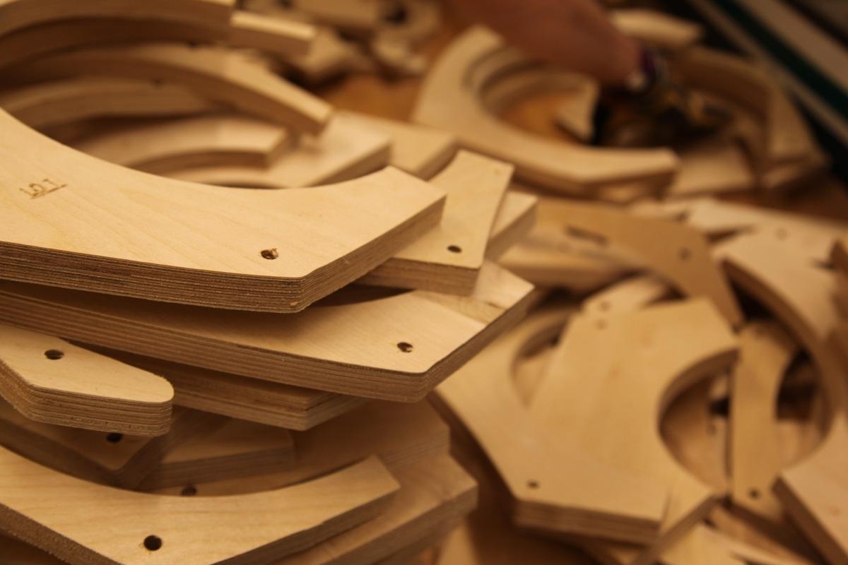 Plywood slices