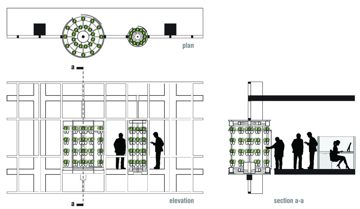 Plan Elevation Section : Office greenhouse hybrid andrew brooks archinect