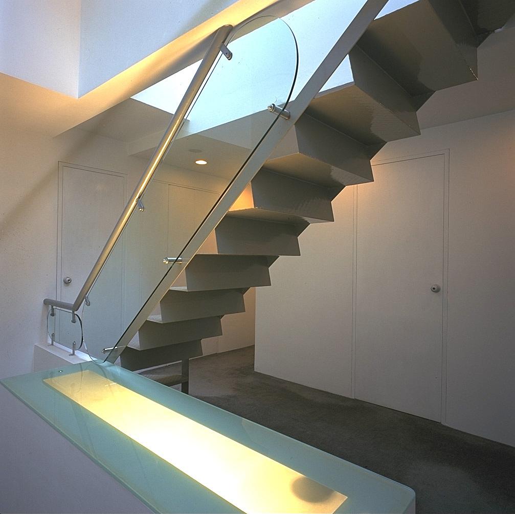 Studio staircase.