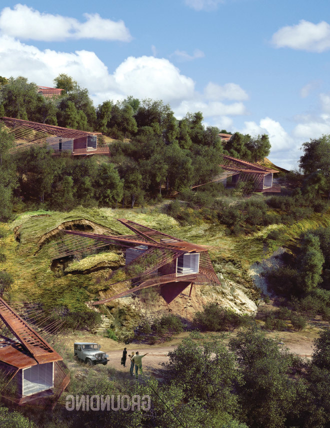 Hillside view. (Rendered in collaboration with Viktor Ramos)
