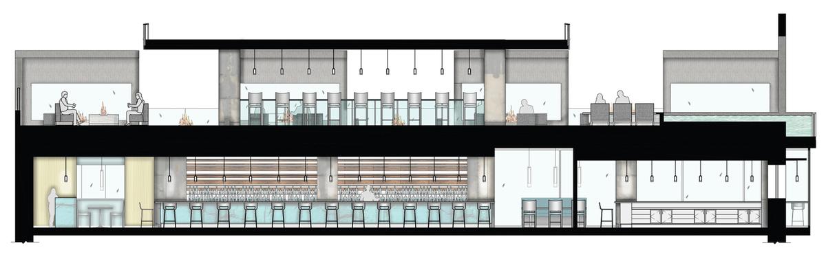 Latitudinal Building Section