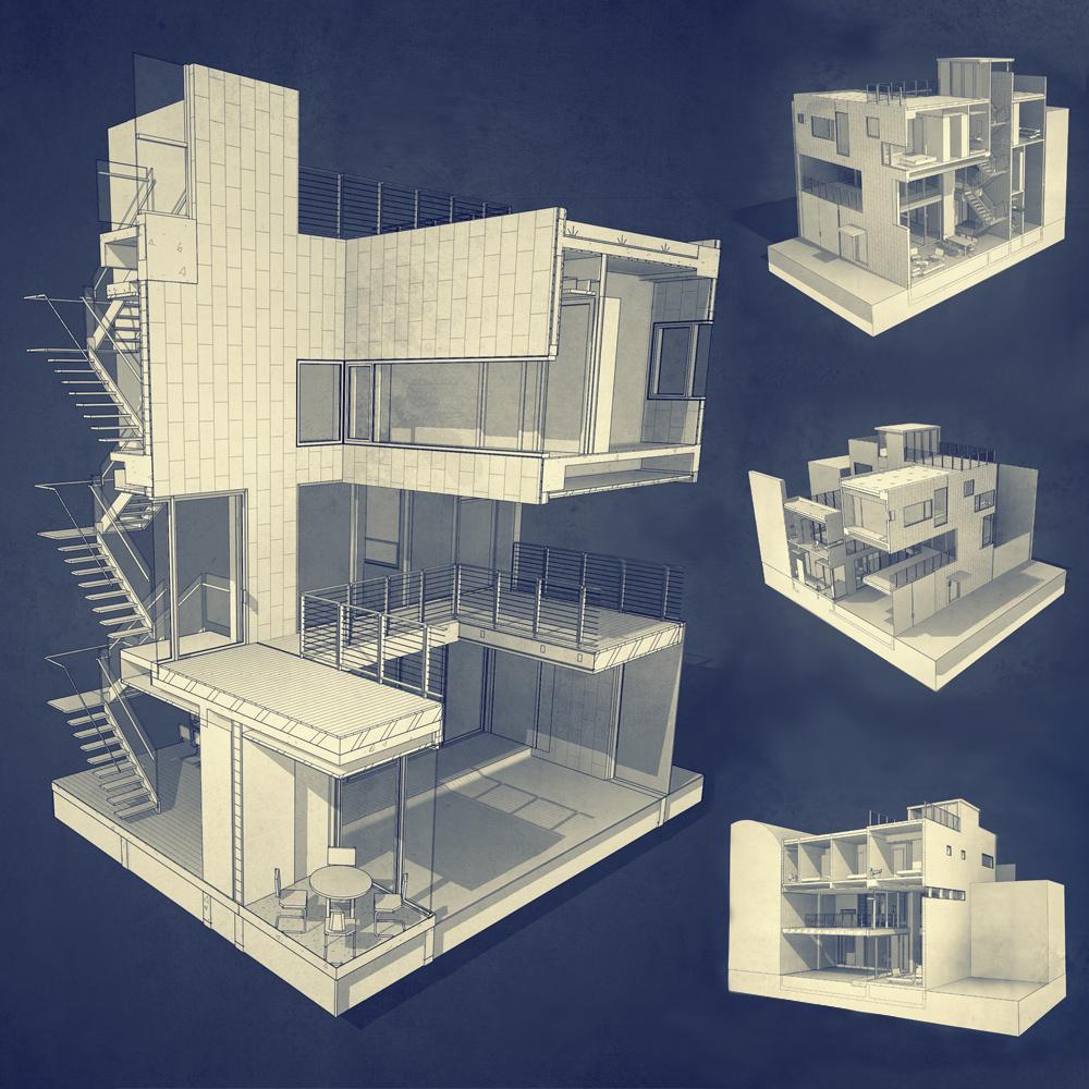BIM model. PAUL CREMOUX studio