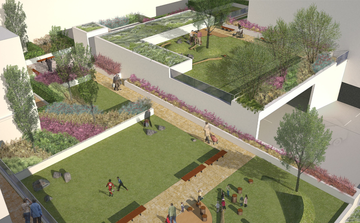 The oaks acton london justin davis archinect for Garden design in 3d using sketchup