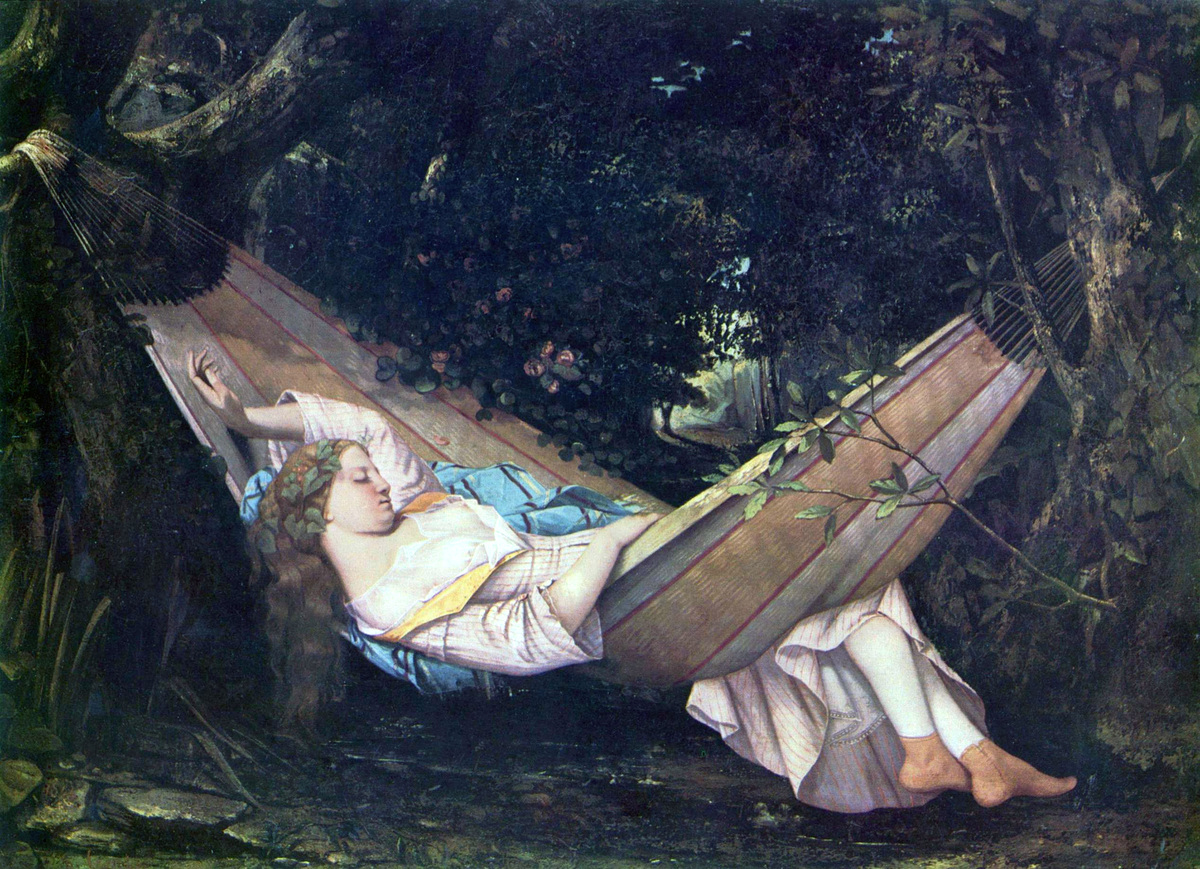 Gustave Courbets The Dream (1844)... of no more CE. Image via Wikipedia.org.
