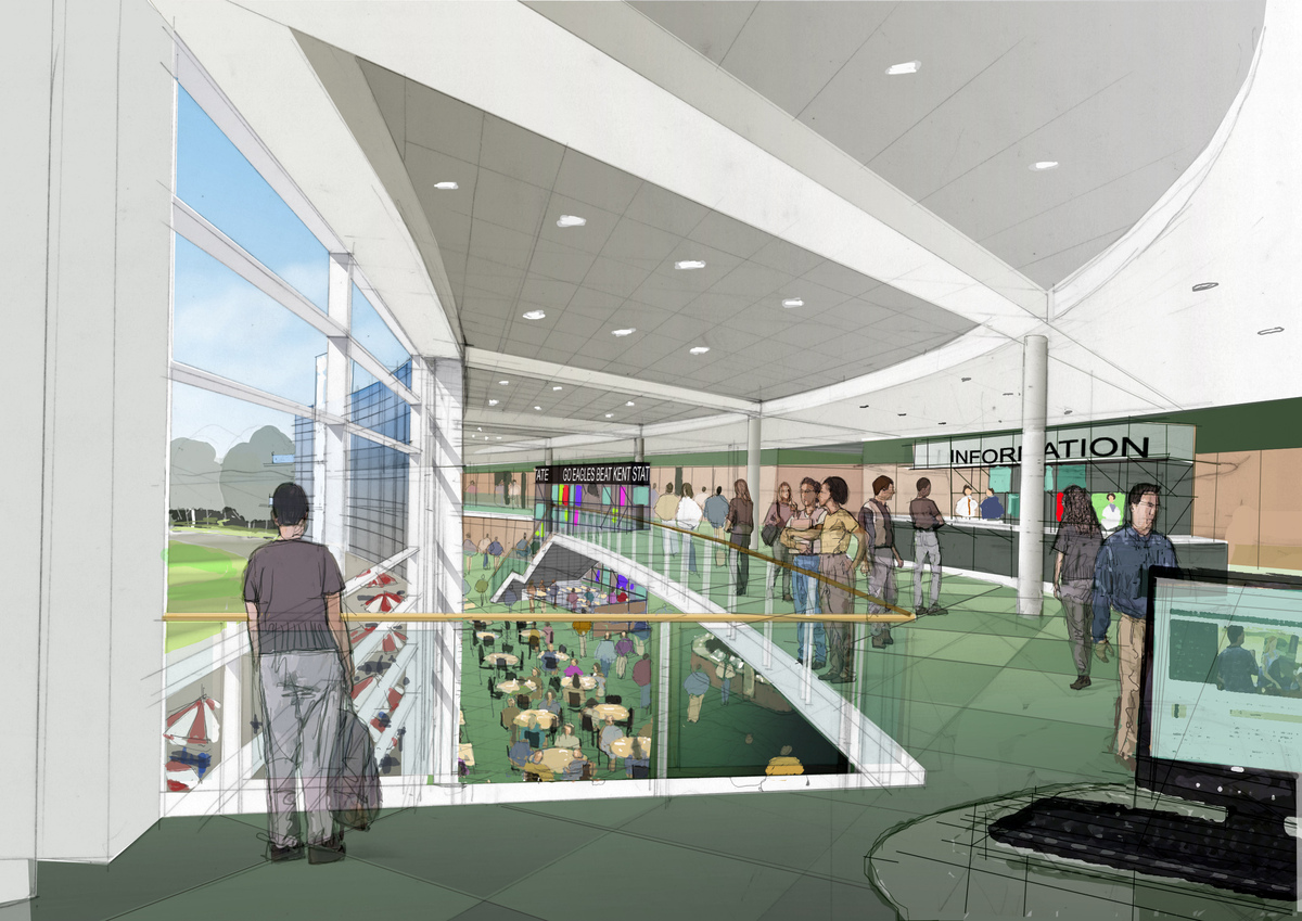 Eastern Michigan University Student Center Andrew Lavengood Archinect