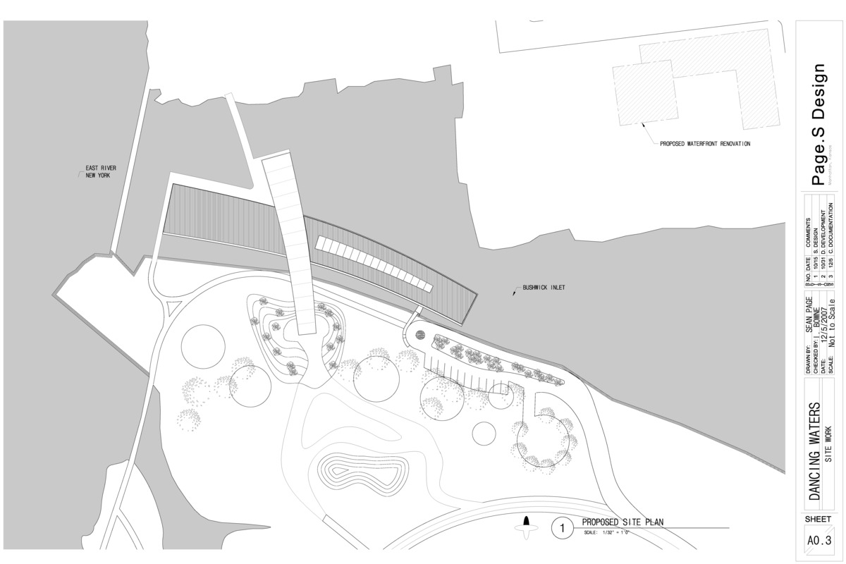 Site Plan showing relationship to East River