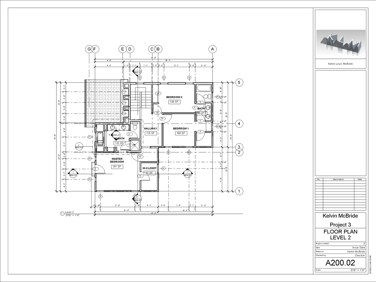 A200-02 - Floor Plan Level 2