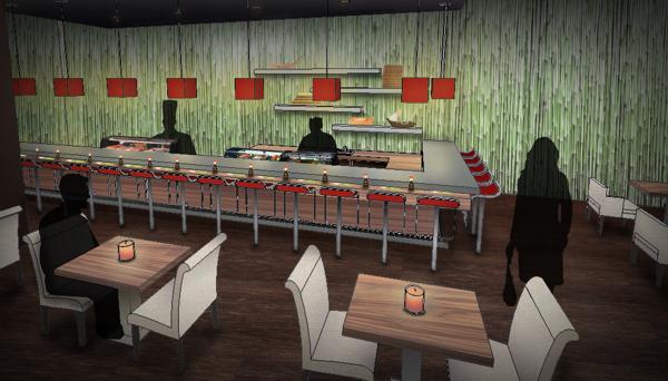 Wasabi Sushi Bar Perspective.