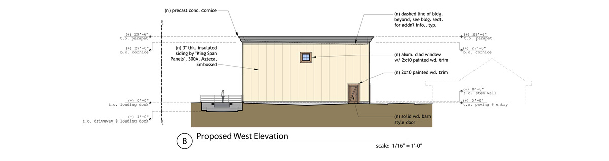 Proposed West Elevation
