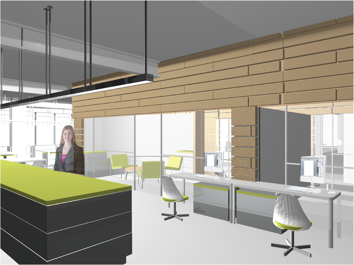 Offices and Administrative area Perspective