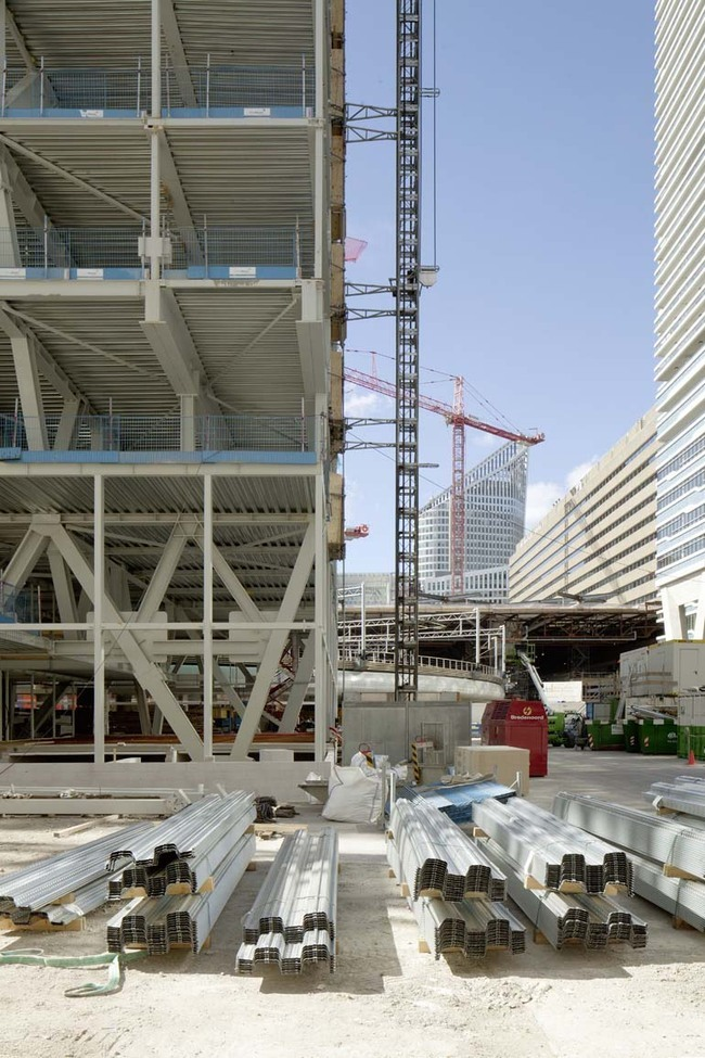 Wiel Arets Architects under construction AvB Tower in The Hague