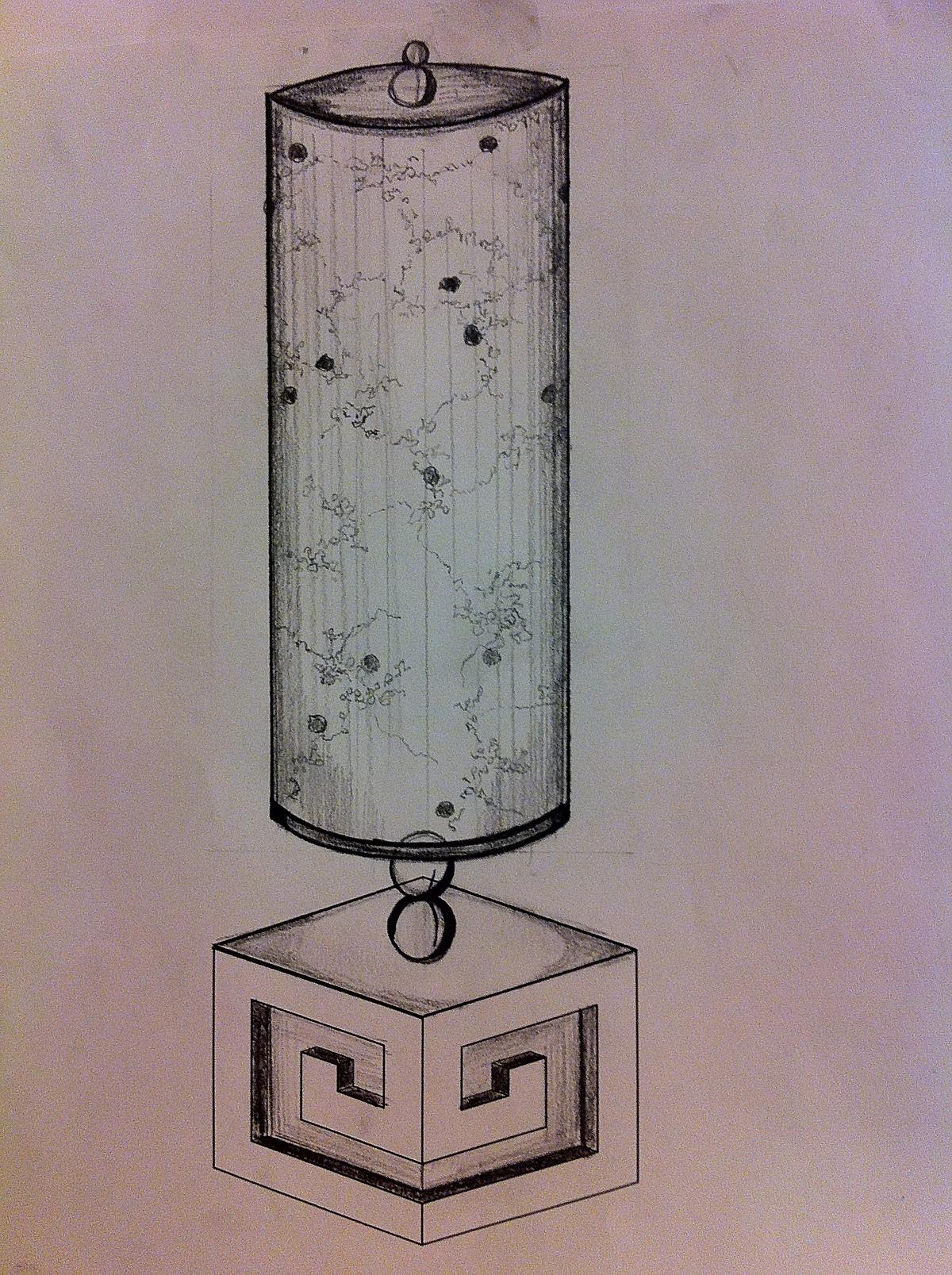 Product Design: desk lamp