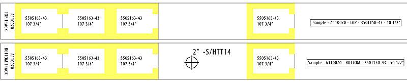 Prefab steel panel label - encodes all layout information