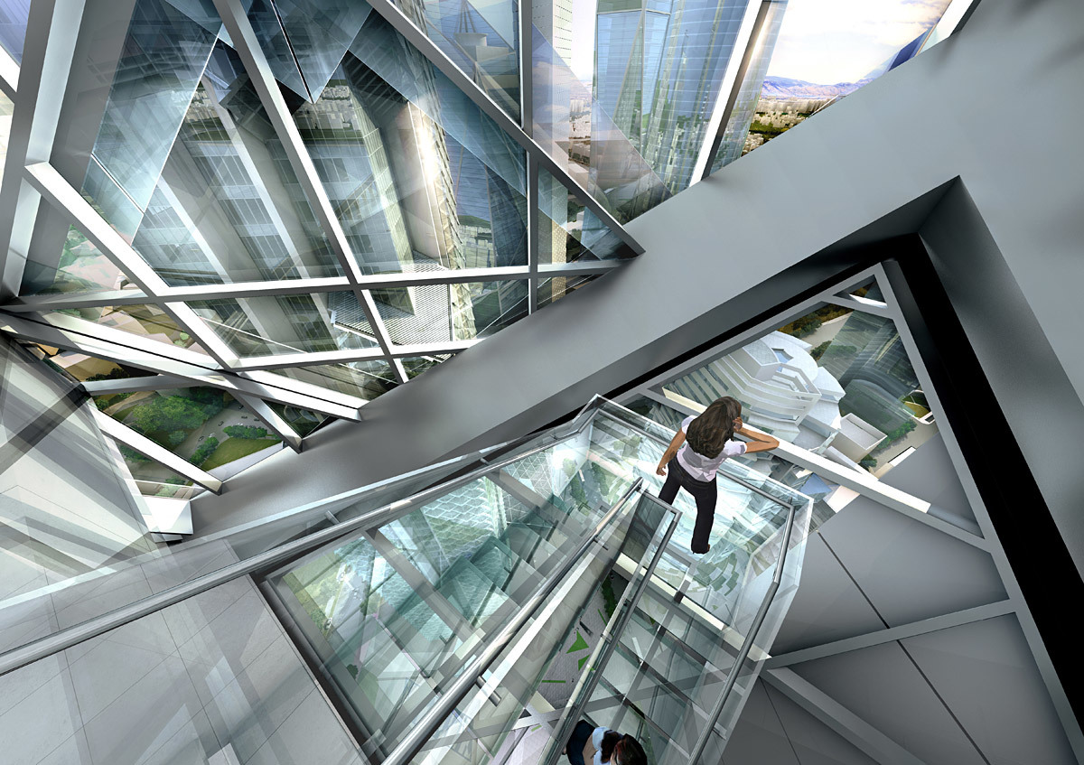 Down cut (Image: Adrian Smith + Gordon Gill Architecture)