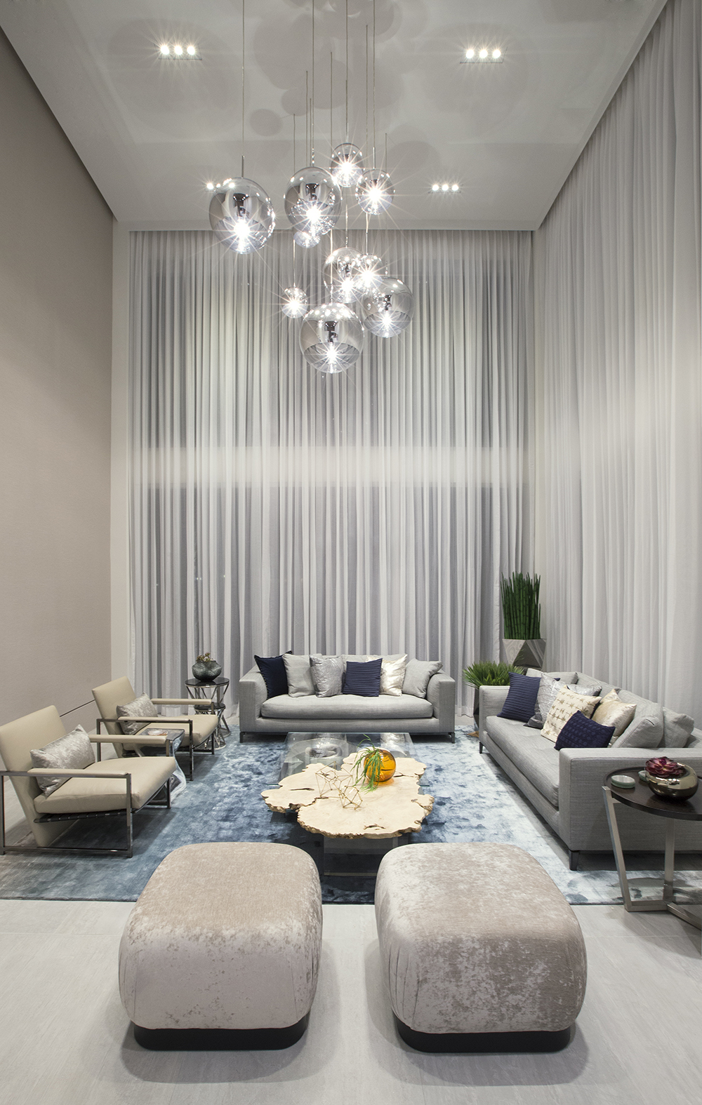 Contemporary twilight dkor interiors inc archinect for Residential living room interior design