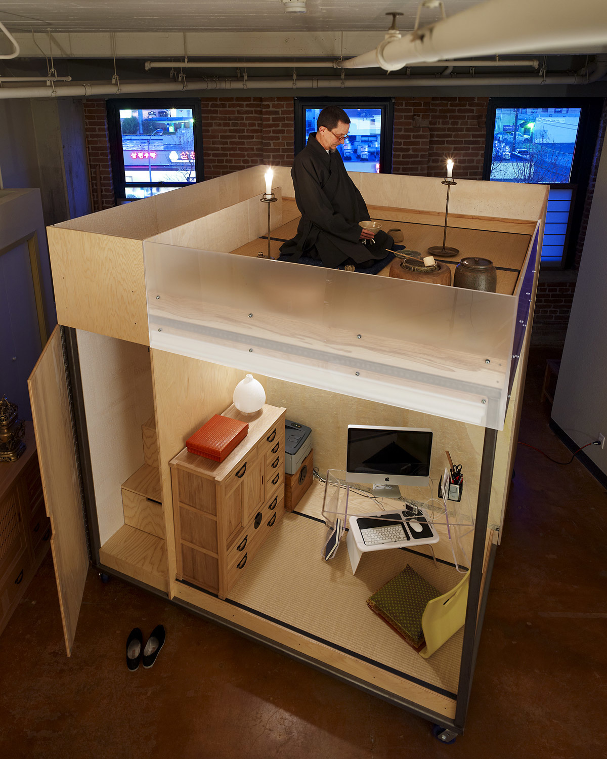 The Mobile Dwelling Cube; Oakland, CA by SPACEFLAVOR (Photo: Jasmine Rose Oberste)
