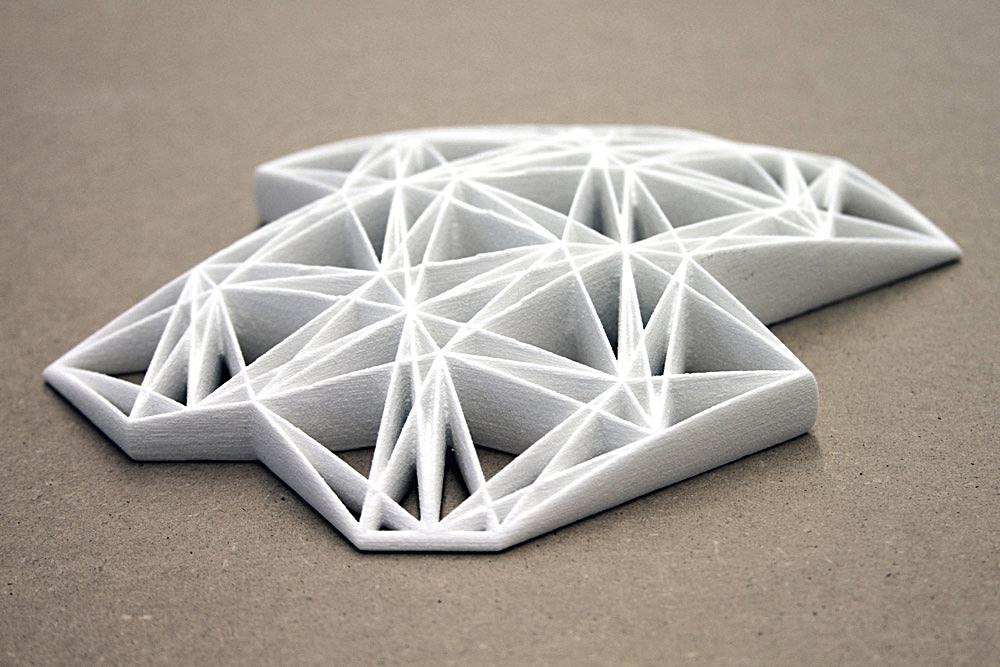 Tesssselace, 3D-printed prototype of rubber floor matting; Igor Siddiqui / isssstudio